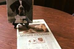 A Biblioteca Municipal de Barbacena MG, viu a excelente matéria da jornalista Anna Marina, do Jornal Estado de Minas, do livro História de Missy, e me enviou um pedido para que o livro fosse doado. Fiquei muito honrada, o livro está em destaque na Biblioteca Pública Municipal Honório Armond