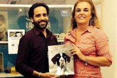 Dia de doação do livro na Fundação Lara Mara para cegos SP
