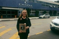 Estive hoje na Chapel School, escola que meus filhos estudaram, apresentando o projeto Historia de Missy, para Fernanda Caires, bibliotecária.Primeiro livro de inclusão do Brasil!!