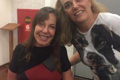 Eu e a Senadora Mara Gabrilli, que apoiou o projeto desde o começo.